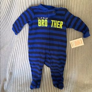 Carters little brother footed zip up